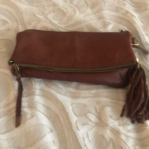 Lucky Brand Bags - Brown leather cross body lucky brand purse